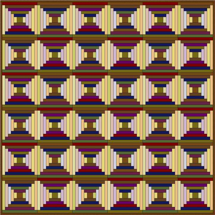 Courthouse Steps Log Cabin variation by Sandi Walton at Piecemeal Quilts