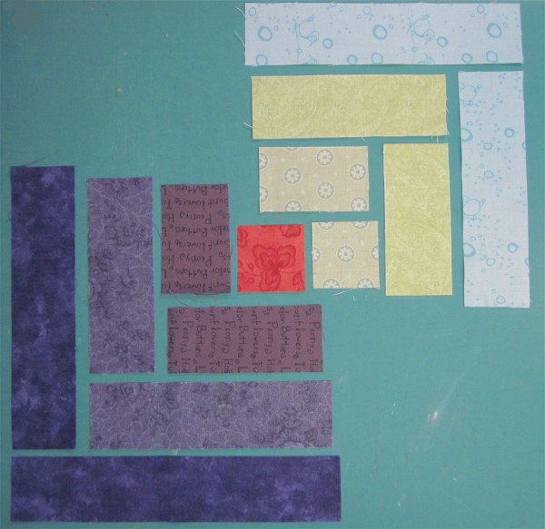 Log Cabin piecing by Sandi Walton at Piecemeal Quilts