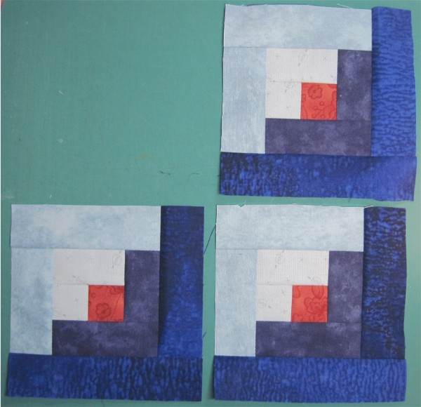 Log Cabin block by Sandi Walton at Piecemeal Quilts