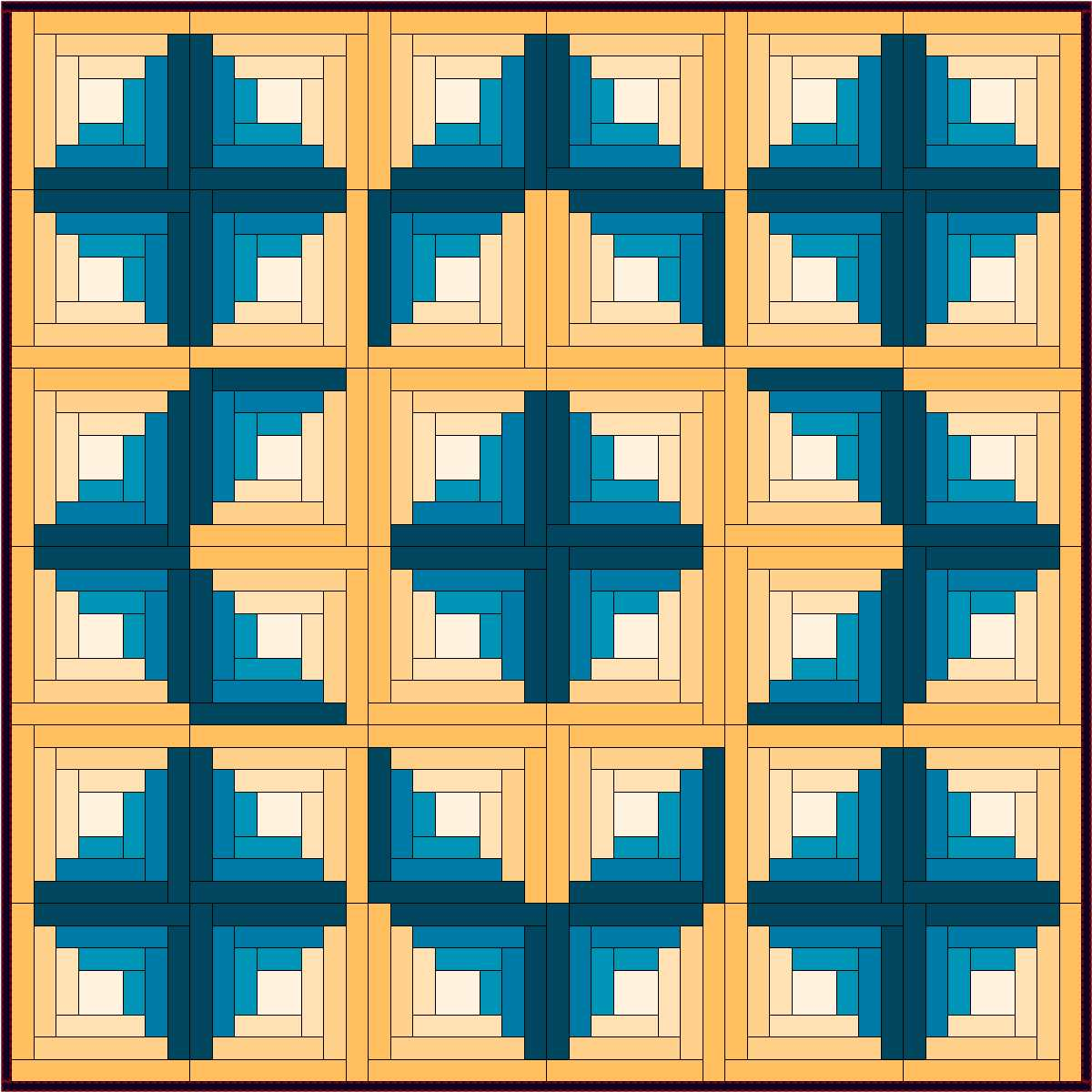 Log Cabin Star Traditional Log Cabin Quilt   Setting Variation By Sandi  Walton At Piecemeal Quilts