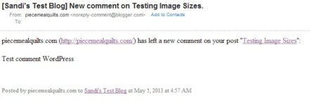 Blogger Comment Email