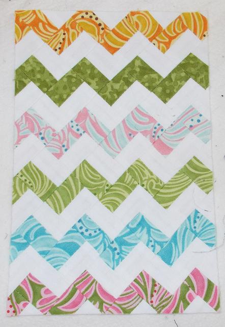 """Ultra Mini Zigzag 8"""" by Sandi Walton at Piecemeal Quilts"""