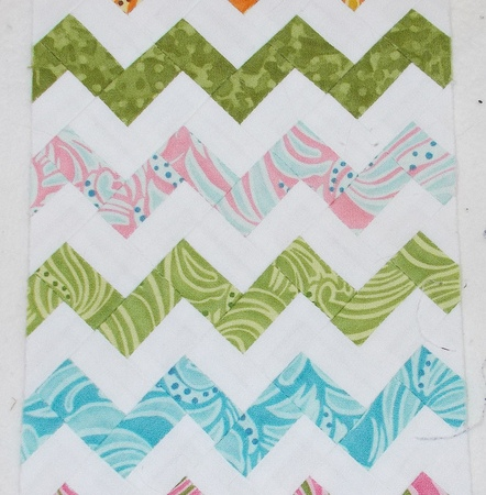 "Ultra Mini Zigzag 8"" by Sandi Walton at Piecemeal Quilts"