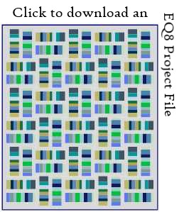 Coin Toss EQ8 project file download by Sandi Walton at Piecemeal Quilts