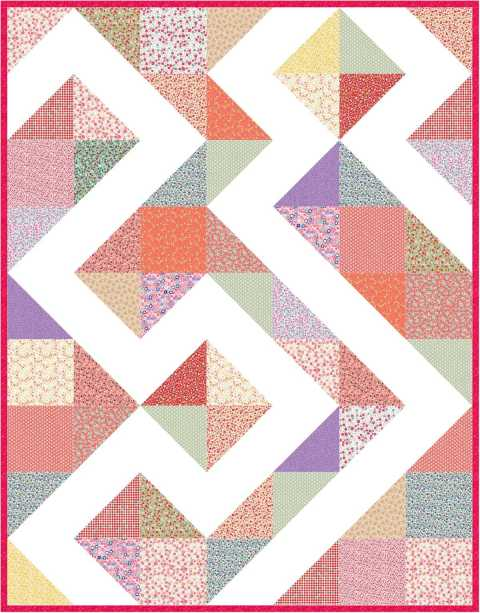 Corny EQ8 design by Sandi Walton at Piecemeal Quilts