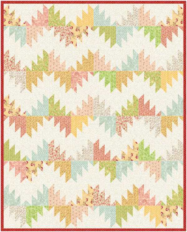 Delectable Mountains EQ8 design by Sandi Walton at Piecemeal Quilts