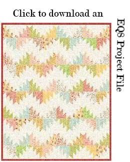 Delectable Mountains EQ File by Sandi Walton at Piecemeal Quilts