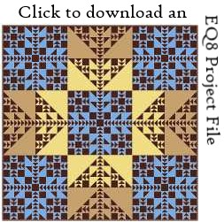 Fractalish EQ8 project file download by Sandi Walton at Piecemeal Quilts