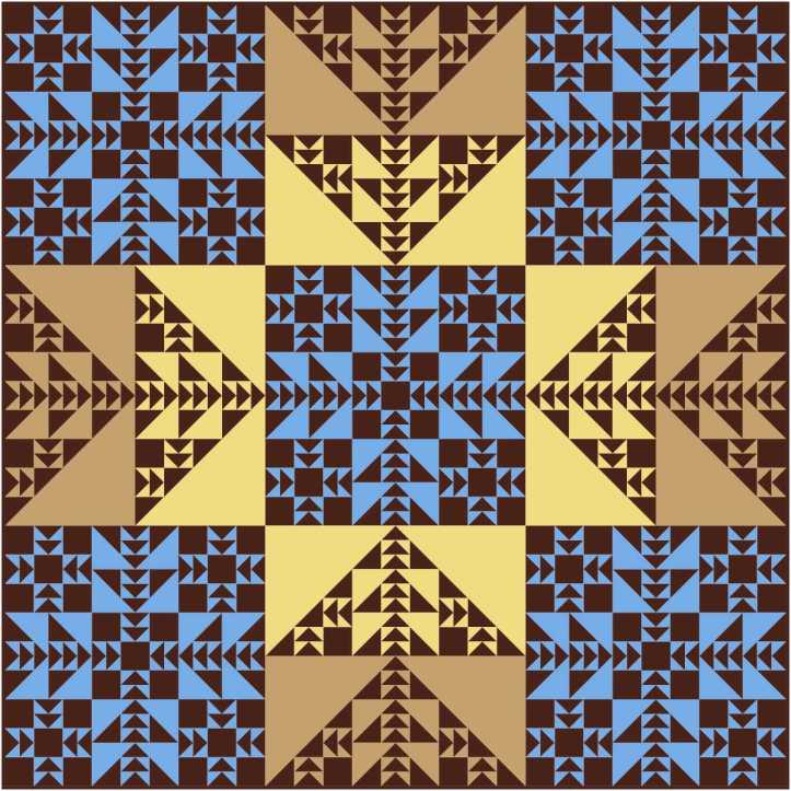 Fractalish EQ8 design by Sandi Walton at Piecemeal Quilts