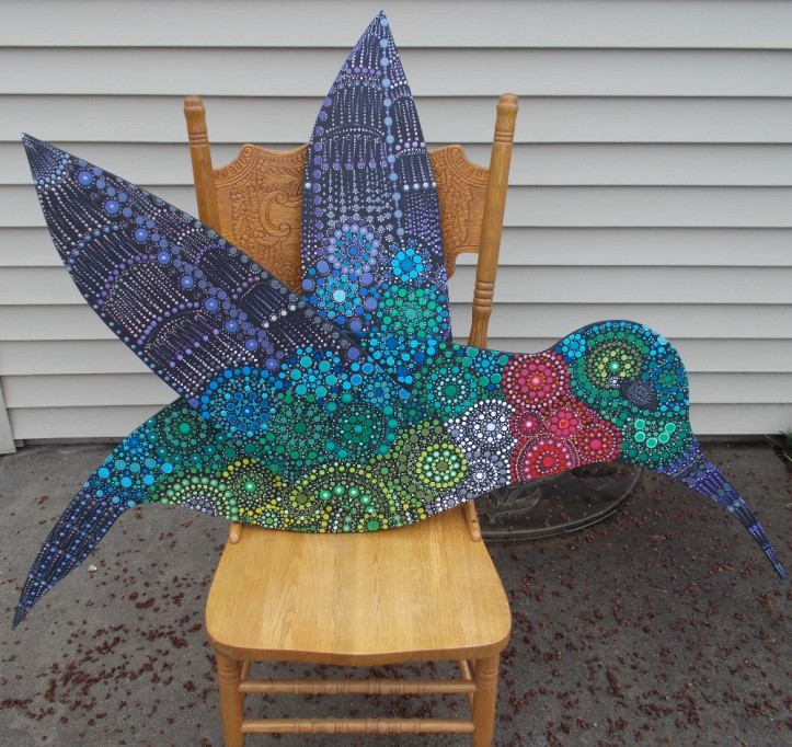 Hummingbird side 1 by Sandi Walton at Piecemeal Quilts