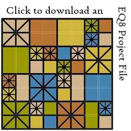 Ironwork EQ8 project file download by Sandi Walton at Piecemeal Quilts