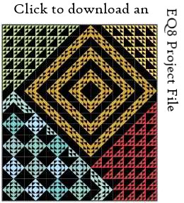 Liftoff EQ8 project file download by Sandi Walton at Piecemeal Quilts