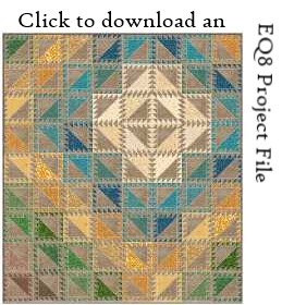 Serendipity EQ8 project file download by Sandi Walton at Piecemeal Quilts