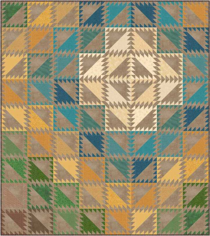 Serendipity EQ8 design by Sandi Walton at Piecemeal Quilts