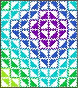 Serendipity EQ8 design by Sandi Walton at Piecemeal Quilts