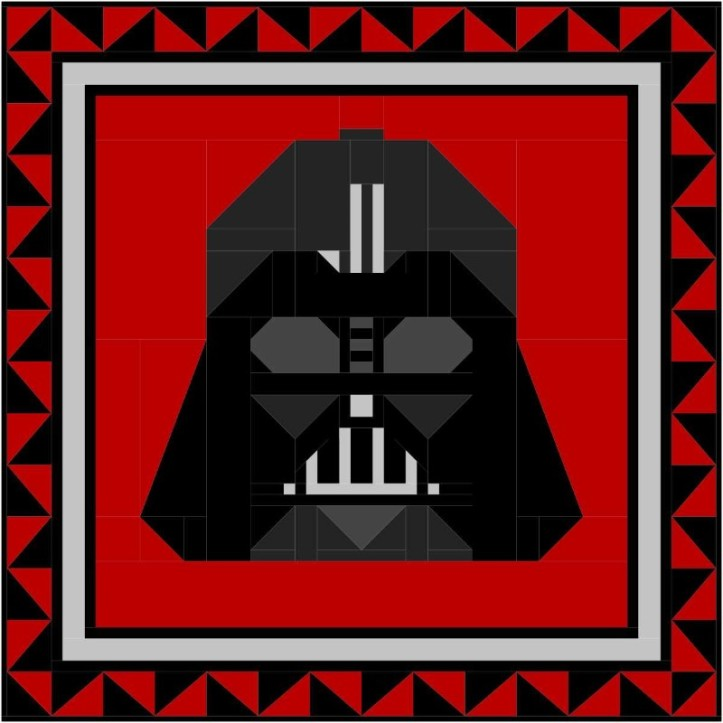 Darth Vader EQ8 by Sandi Walton at Piecemeal Quilts